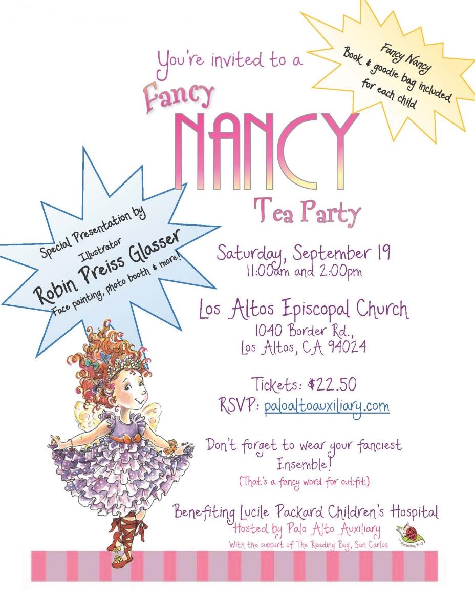 Popular Fancy Nancy Tea Party | Support Packard Children's Hospital QI69