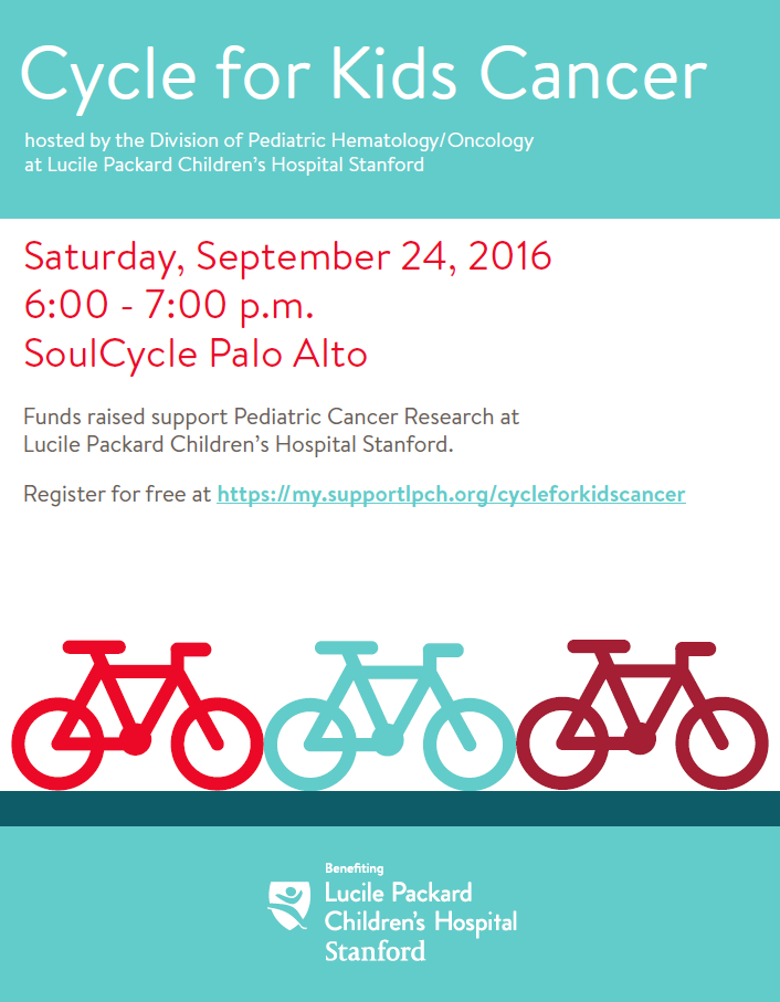 Cycle for Kids' Cancer   Support Packard Children's Hospital